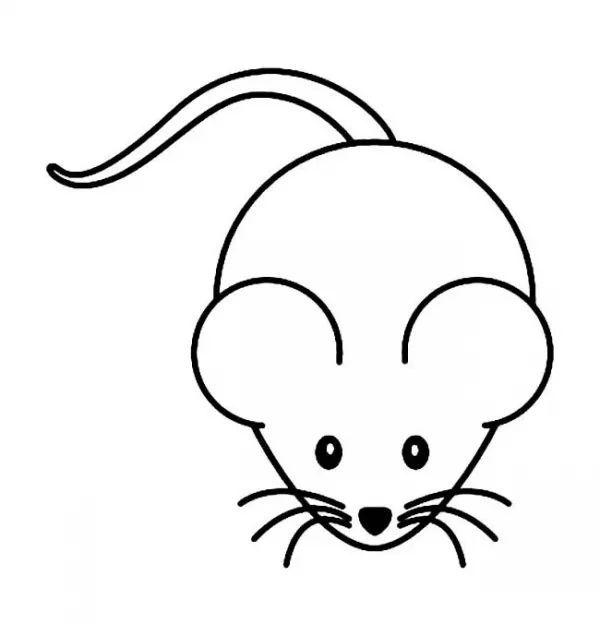 卡通老鼠简笔画