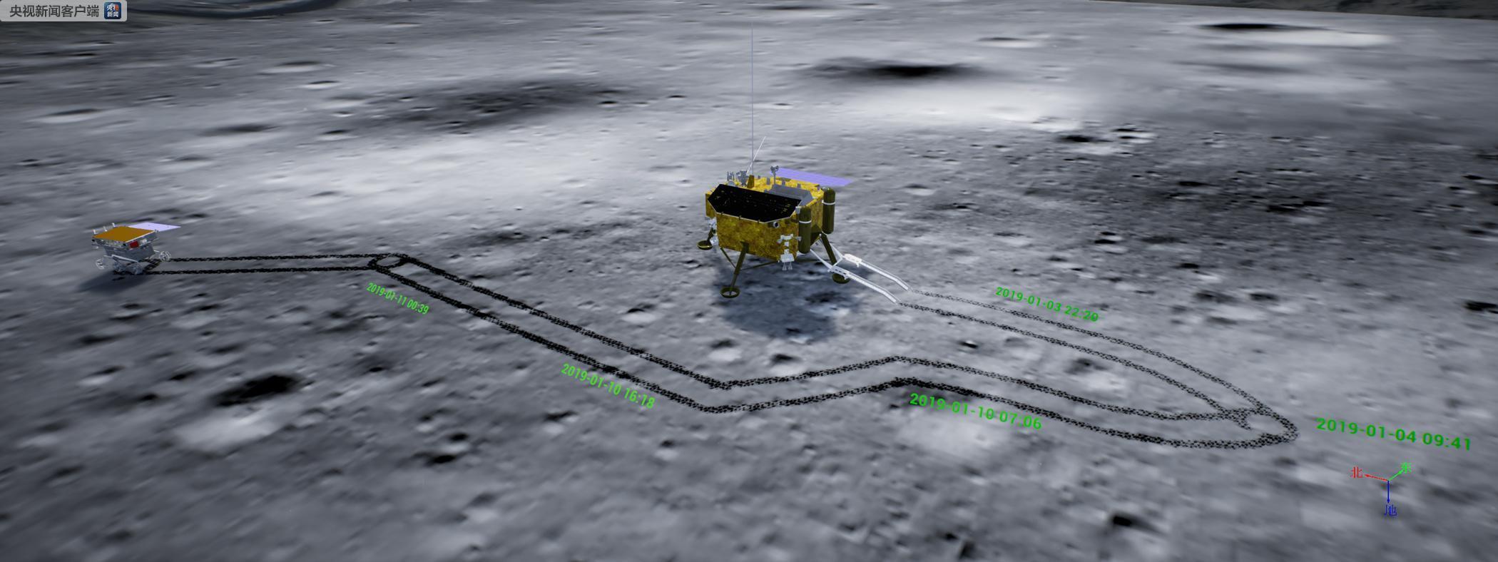 """嫦娥四号着陆器和""""玉兔二号""""巡视器顺利度过月夜开展第二月昼工作"""