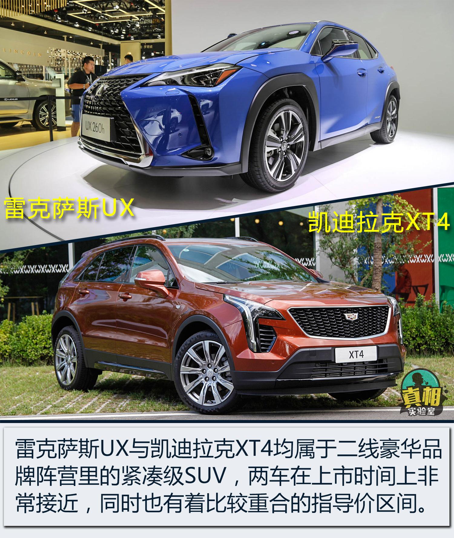 进口凯迪拉克suv_相近价格豪华SUV买进口还是合资? 雷克萨斯UX叫板凯迪拉克XT4_车型