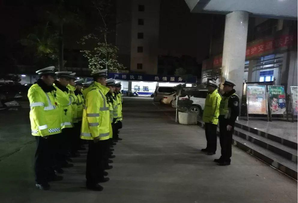 靖西交警大队连续开展夜查整治行动 为春节营造良好交通环境