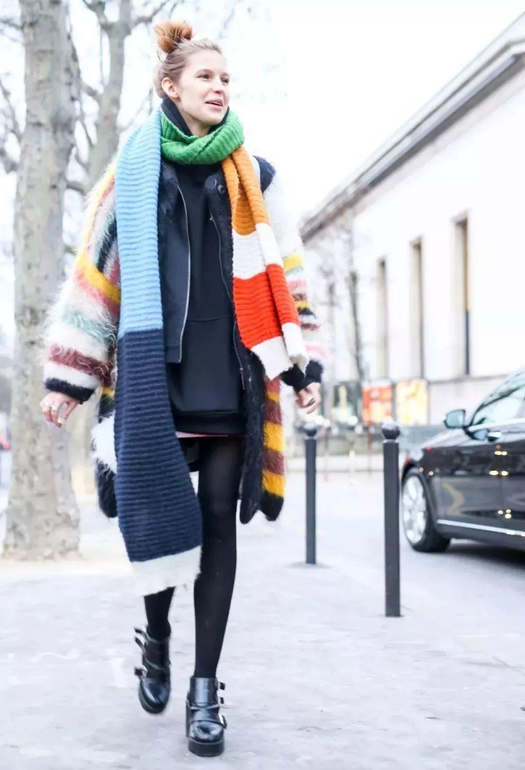 请问套头围巾的围法有哪些?