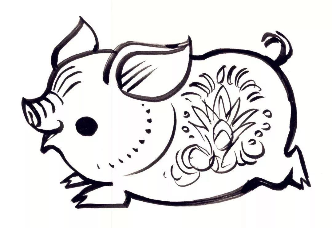 生肖猪 | 韩美林和他笔下的猪年邮票图片