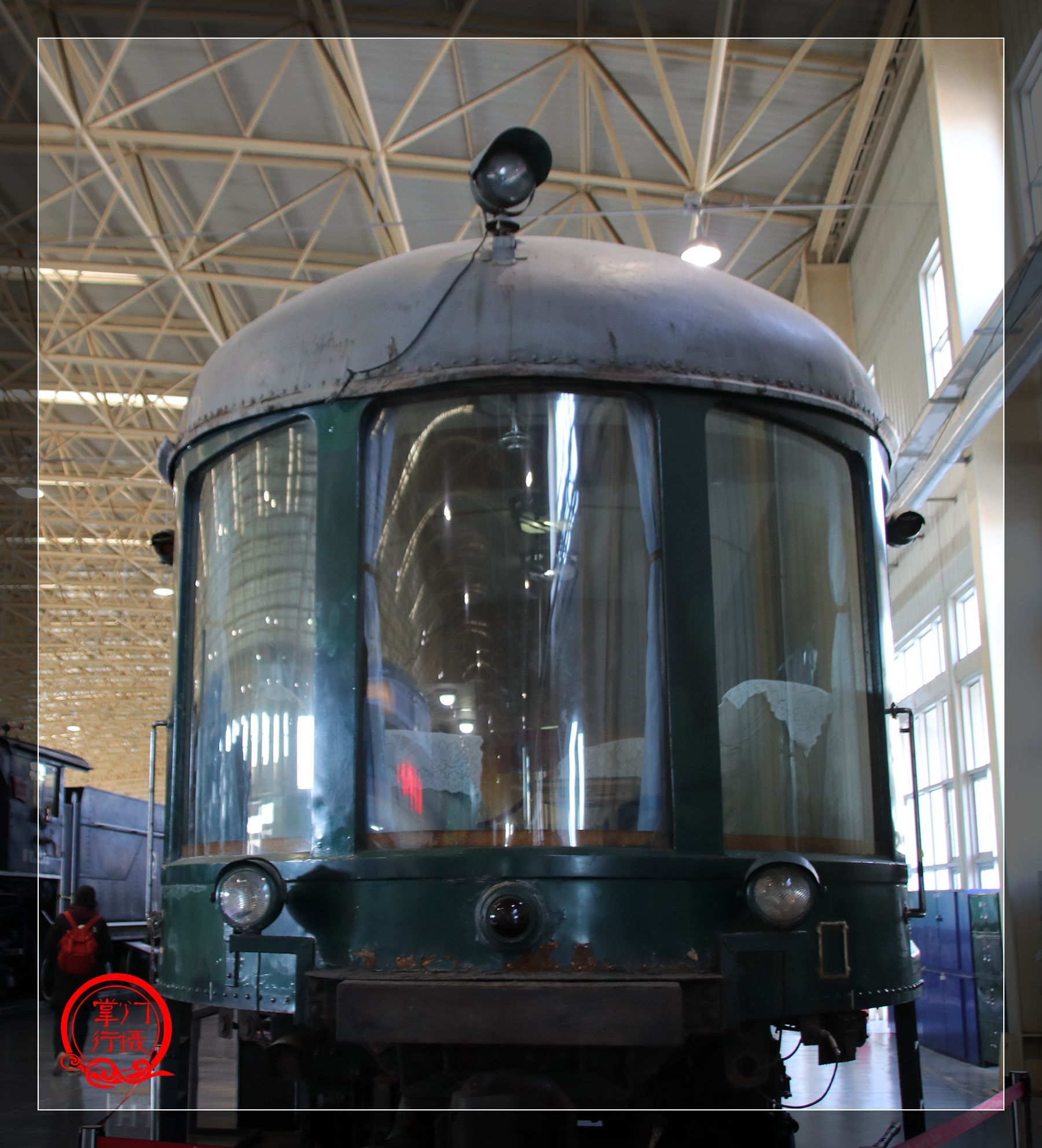 实拍目前中国保存的最古老的机车,1882年英国苏格兰机车厂制造