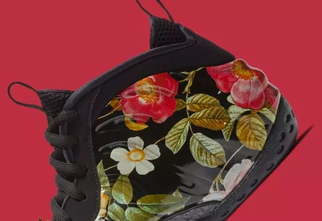 "「花卉喷」也有男款!Nike Air Foamposite One ""Floral""  货号:314996-012"