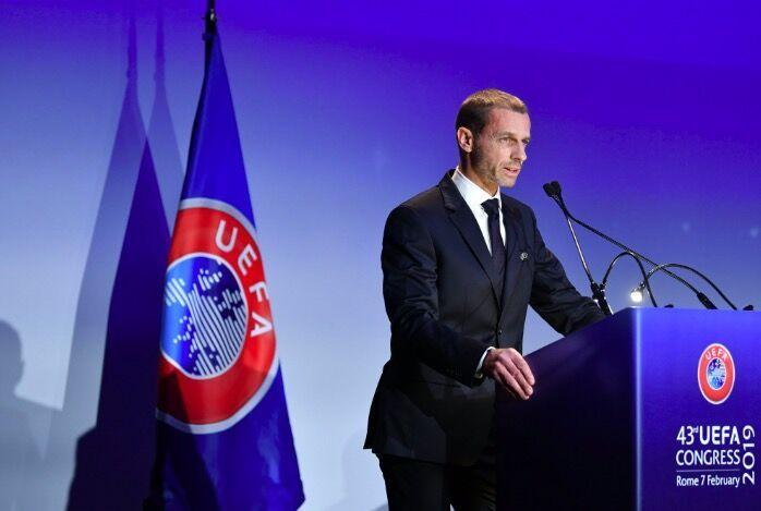 欧足联宣布切费林成功连任 无对手任期至2023年