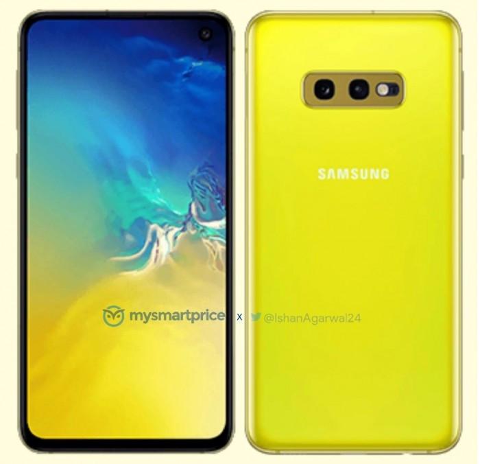 """三星Galaxy S10e的""""金丝雀黄""""版意外现身"""