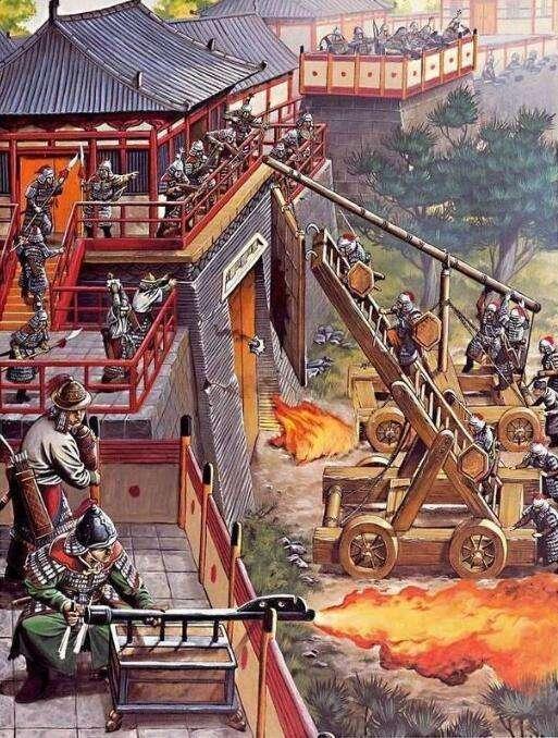 中國古代戰爭中用以攀登城墻的攻城器械是什么?_云梯