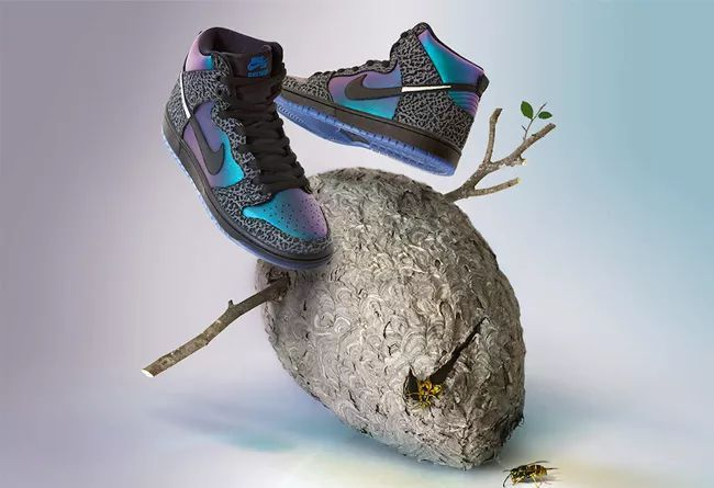 "全明星 Black Sheep x Nike SB Dunk High ""Black Hornet"""