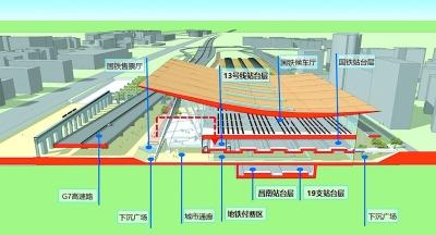 北京地铁13号线改线拨接工程启动 与京张高铁并场设置