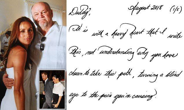 梅根婚后給父親親筆信意外曝光,真相浮出水面,字如其人太好看了_王室