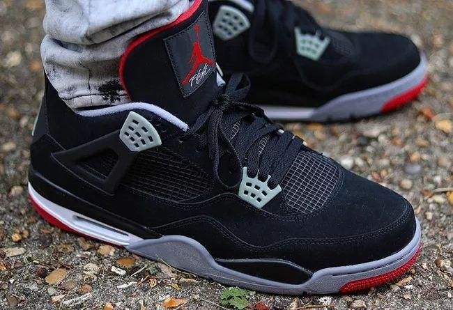 """黑红 Air Jordan 4 """"Bred""""  货号:308497-060"""