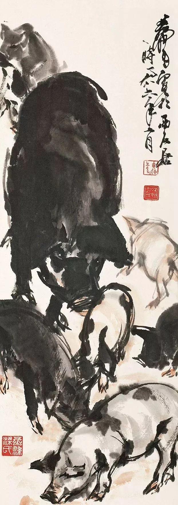 中国画四大画家画墨猪图片