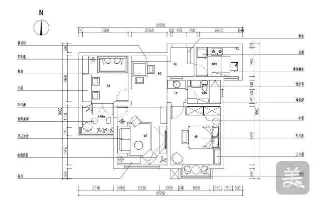 80平宜家风小户型二居室,把儿童房当成书房来用!_设计