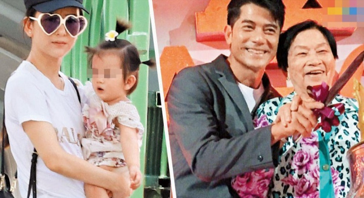 原創             方媛懷孕五個月僅重46kg,罕見曬出大女兒的萌照!