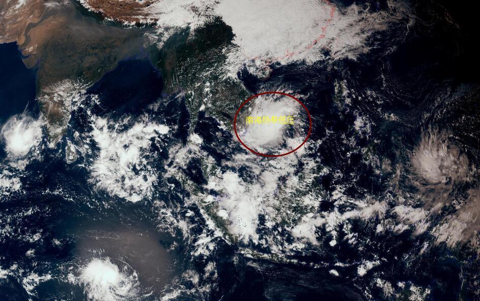 """是否命名?南海""""半路""""出现热带低压,27号台风桃芝可能来了"""