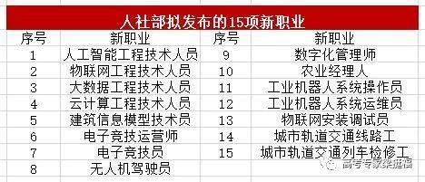 老梁推荐:人社部拟发布15个高大上新职业,填报志愿可参考