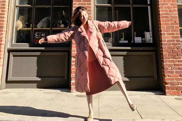原創             冬季紙片妹羽絨服穿搭有妙招,擺脫平板身穿出時髦架式 形象穿搭 第7張