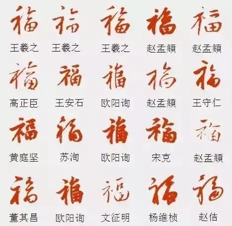 福气来袭 名家手写福字书法欣赏