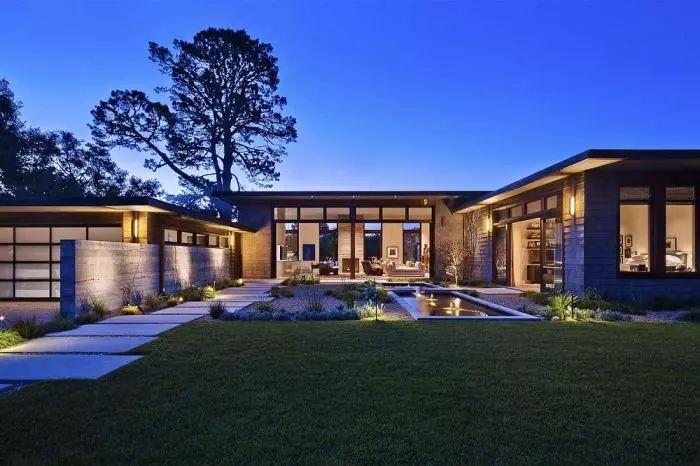 """超大别墅_欧美建筑,美国圣巴巴拉,美式豪华的""""庭院别墅"""",奢华,超大"""