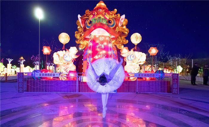 当西方芭蕾记录淄博老师!一段成绩,遇上下这动人心魄的美洛阳市视频招教花灯图片