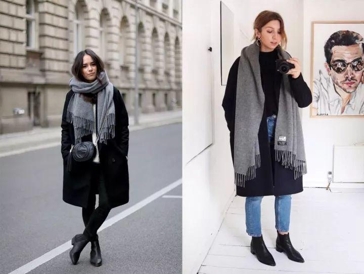 什麼顏色的大衣就搭什麼圍巾,這才是最實用的穿搭法! 形象穿搭 第5張