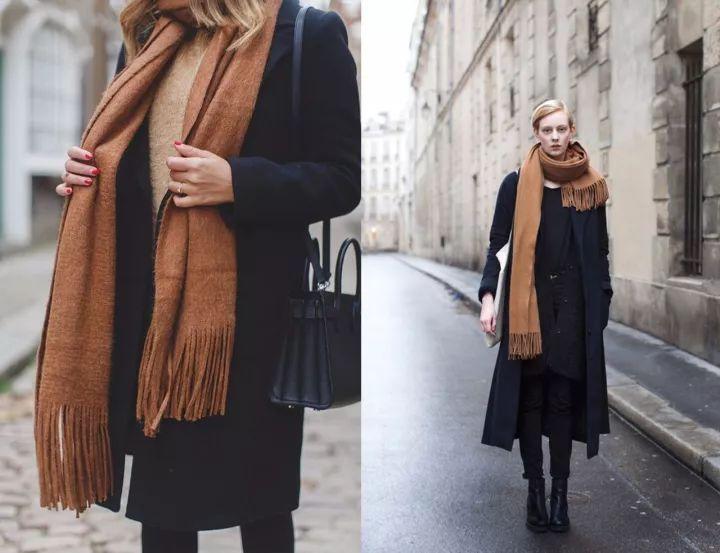 什麼顏色的大衣就搭什麼圍巾,這才是最實用的穿搭法! 形象穿搭 第7張