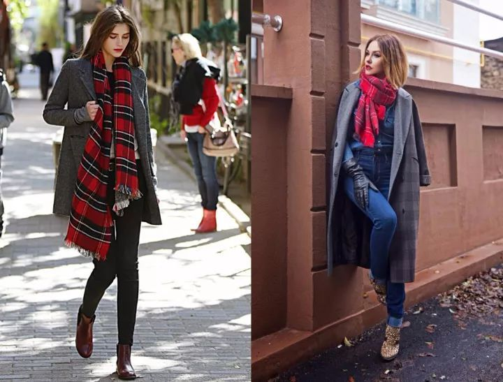 什麼顏色的大衣就搭什麼圍巾,這才是最實用的穿搭法! 形象穿搭 第14張
