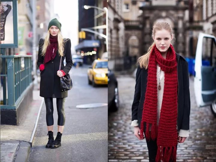 什麼顏色的大衣就搭什麼圍巾,這才是最實用的穿搭法! 形象穿搭 第9張