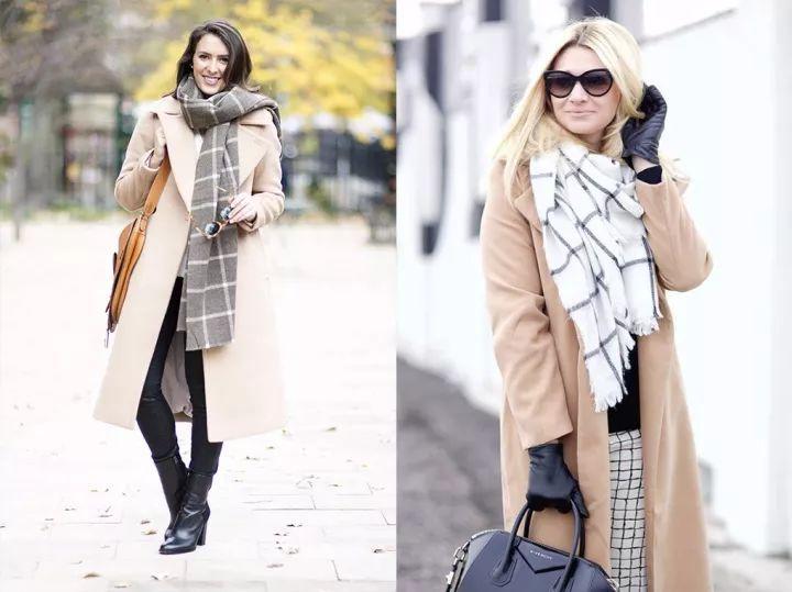什麼顏色的大衣就搭什麼圍巾,這才是最實用的穿搭法! 形象穿搭 第44張