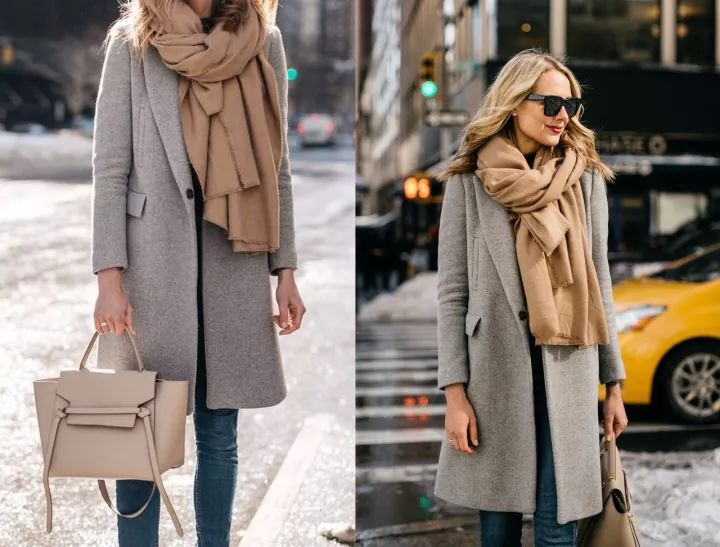 什麼顏色的大衣就搭什麼圍巾,這才是最實用的穿搭法! 形象穿搭 第13張