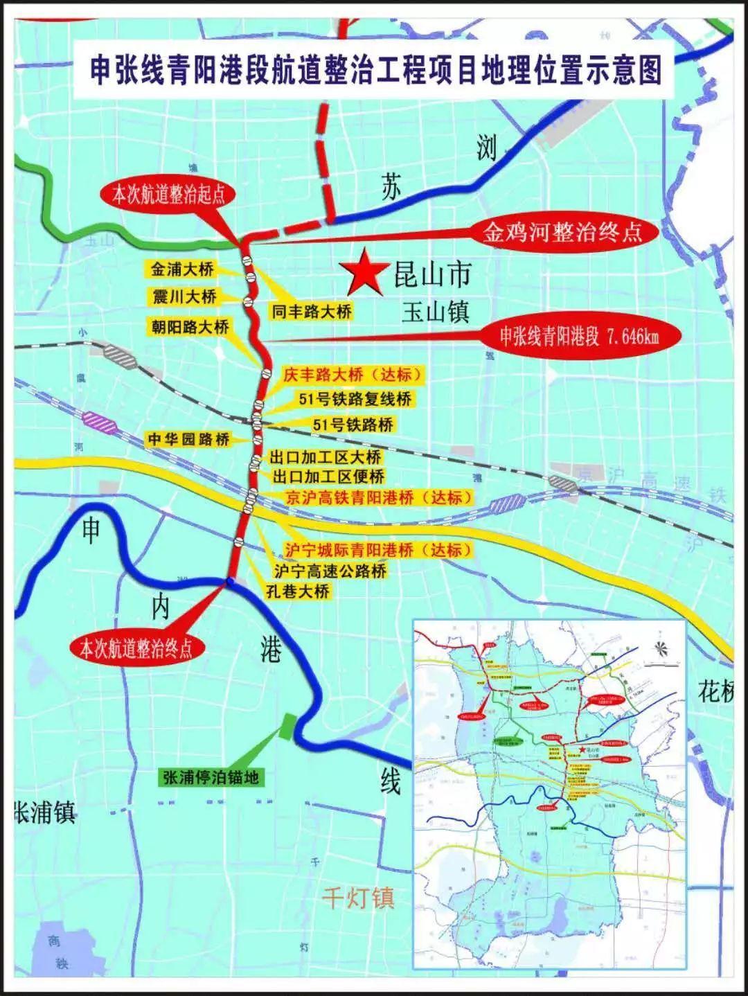 苏州中环快速路北段_昆山中环对接苏州中环等两大项目开工!总投资近100亿元!_航道