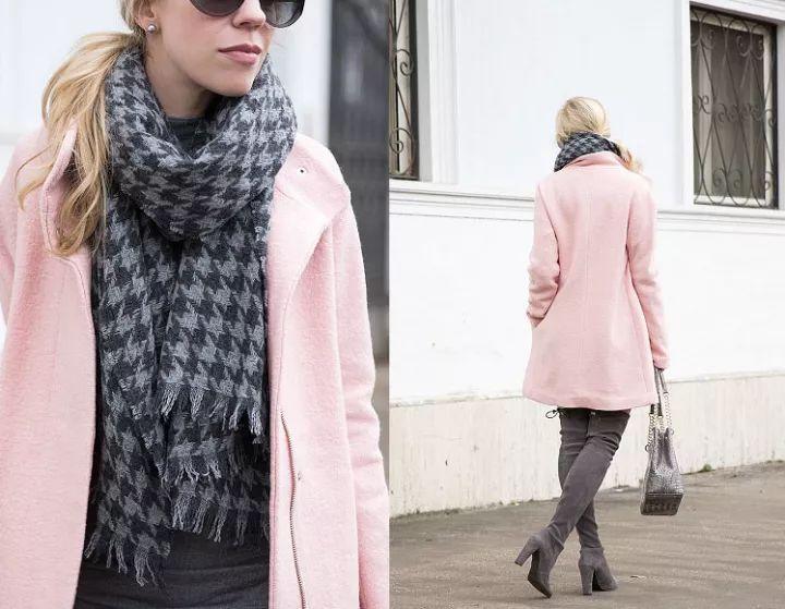 什麼顏色的大衣就搭什麼圍巾,這才是最實用的穿搭法! 形象穿搭 第48張