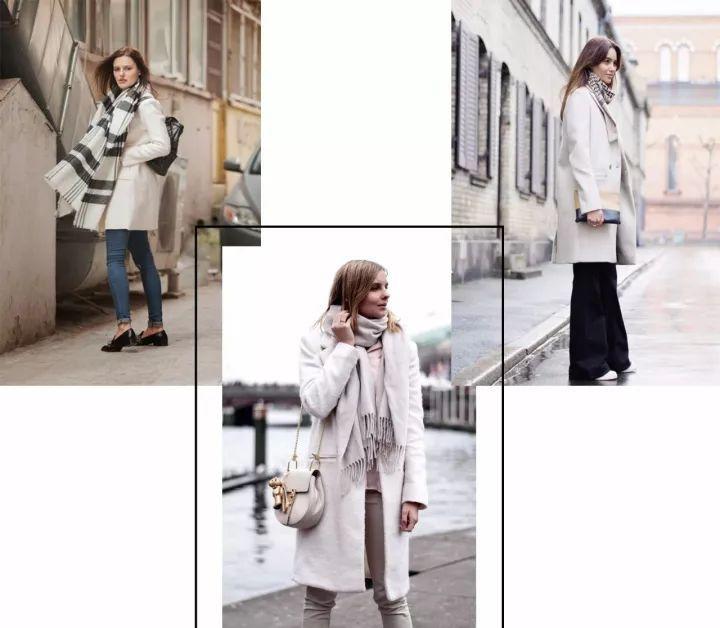 什麼顏色的大衣就搭什麼圍巾,這才是最實用的穿搭法! 形象穿搭 第2張