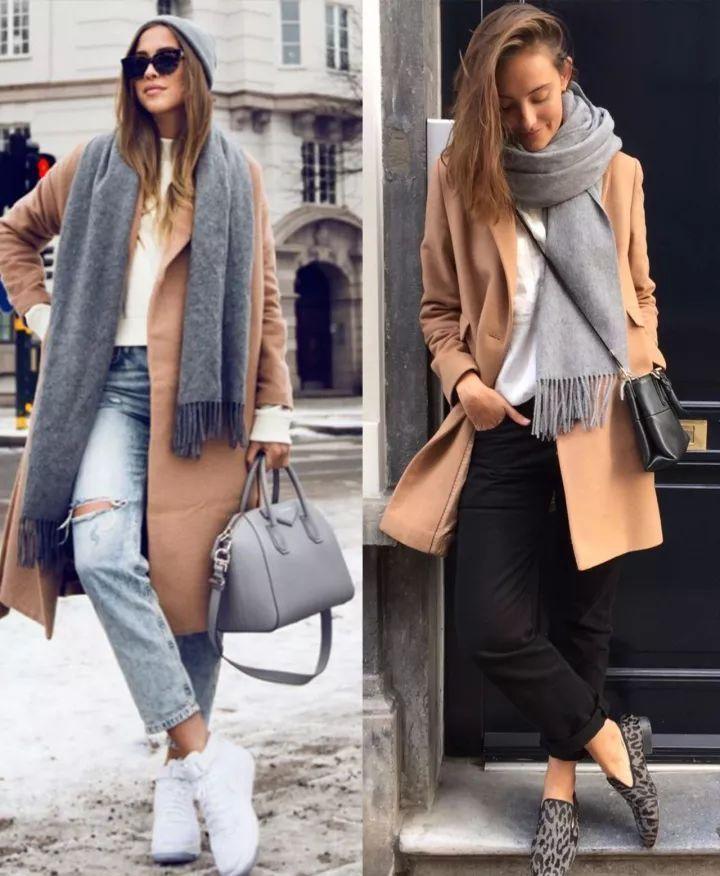 什麼顏色的大衣就搭什麼圍巾,這才是最實用的穿搭法! 形象穿搭 第18張