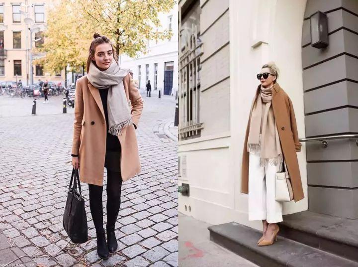 什麼顏色的大衣就搭什麼圍巾,這才是最實用的穿搭法! 形象穿搭 第19張