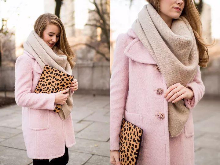 什麼顏色的大衣就搭什麼圍巾,這才是最實用的穿搭法! 形象穿搭 第35張
