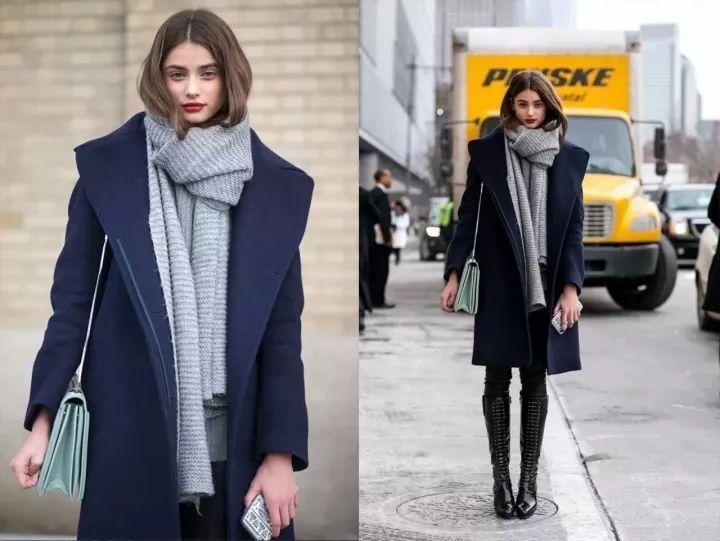 什麼顏色的大衣就搭什麼圍巾,這才是最實用的穿搭法! 形象穿搭 第28張