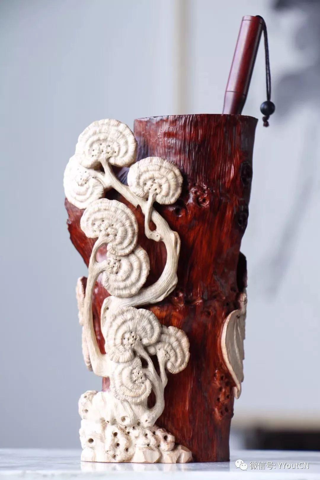 惊绝 纯手工木雕 笔筒汇 为正在雕刻笔筒的朋友提供欣赏与借鉴