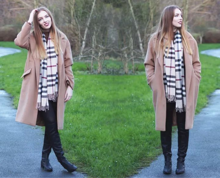 什麼顏色的大衣就搭什麼圍巾,這才是最實用的穿搭法! 形象穿搭 第45張