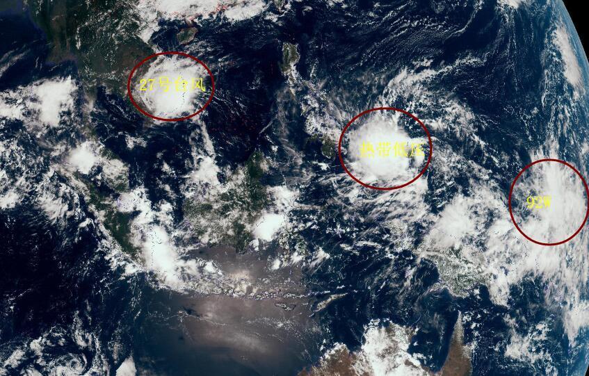 27号台风还未登陆,28号台风24小时内诞生!92W或成29号台风天兔