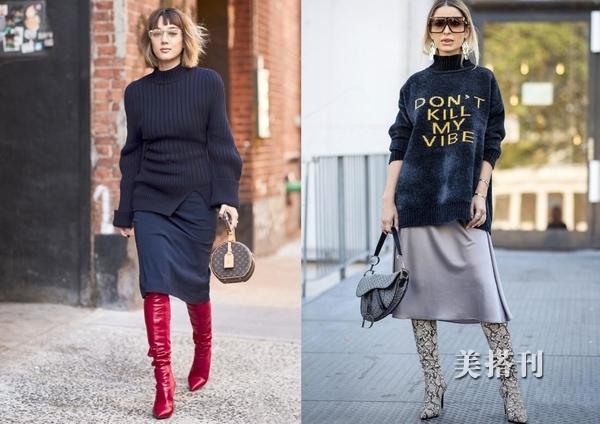 原创时髦的长款毛衣让你春意盎然,多种风格穿搭提升你的时尚造型
