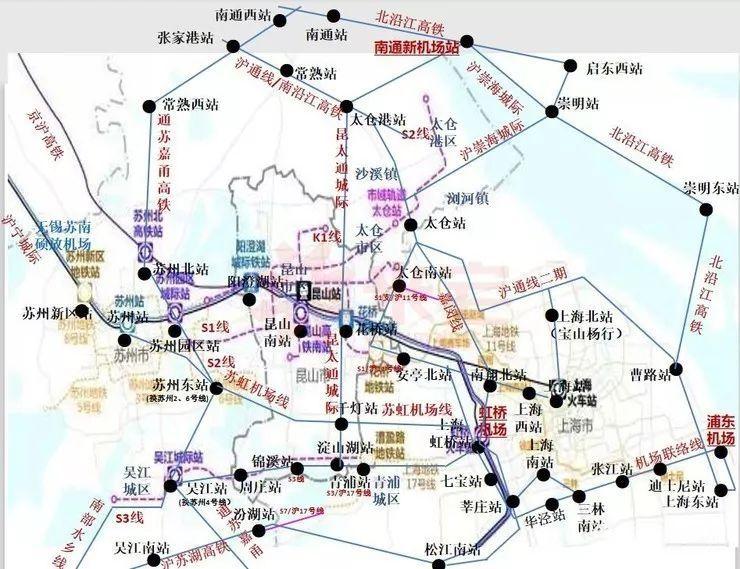 南通地铁2号线:连接上海和南通市中心,虹桥,浦东两大机场,以及崇明