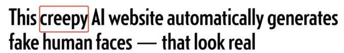 每革新一次, 天生一宣扬传神假脸, 这个生出灵异变乱的网站火了
