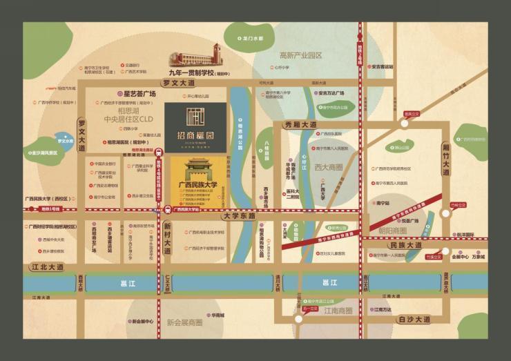 南宁地铁站点平面图