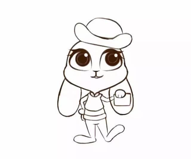 兴宏信亲子简笔画 | 《疯狂动物城》兔子朱迪