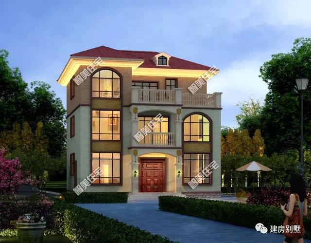 带设计厨房独立的农村自建房,两栋别墅都很美,别墅30万半亿青岛造价图片