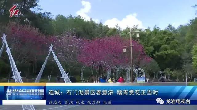 连城:石门湖景区春意浓 踏青赏花正当时