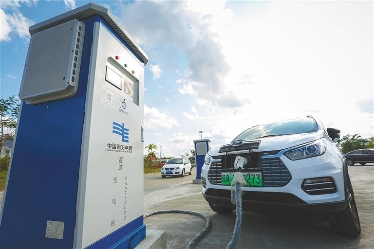 2020年海南新能源汽车保有量占比居全国前列