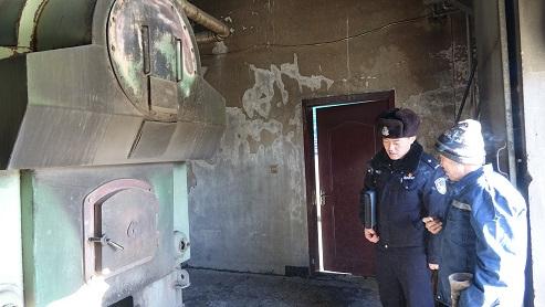 白音华南所深入内部单位进行节日期间消防安全检查