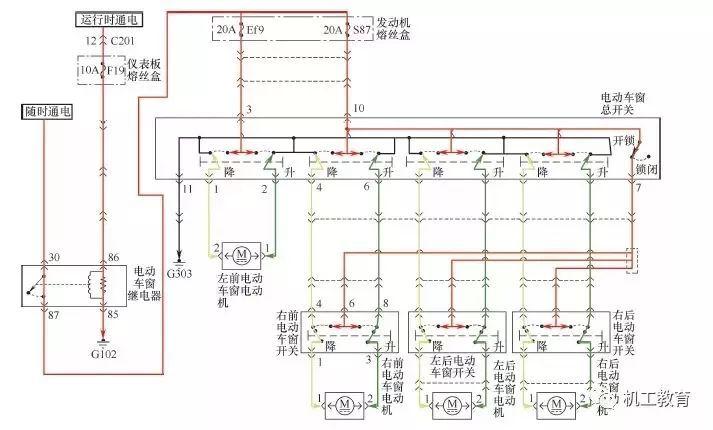 丰田卡罗拉刮水器与洗涤器电路图 2.丰田车型刮水器电路图 3.